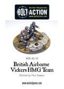 Bolt Action - British Airborne Vickers HMG & Crew