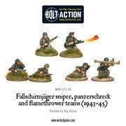 Bolt Action - Fallschirmjager Flamethrower, Sniper & Panzerschreck