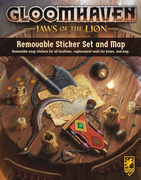 Gloomhaven - Jaws of the Lion -  Removable Sticker Set and Map -EN