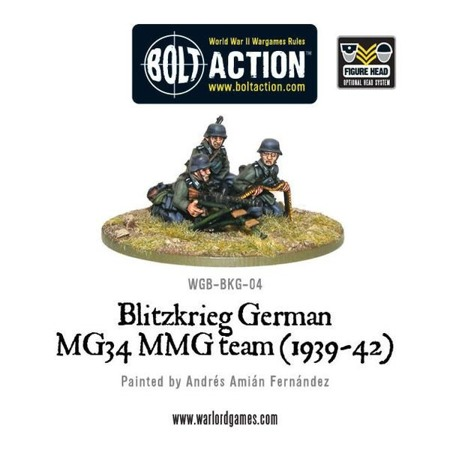 Bolt Action - Blitzkrieg German MG43 MMG Team