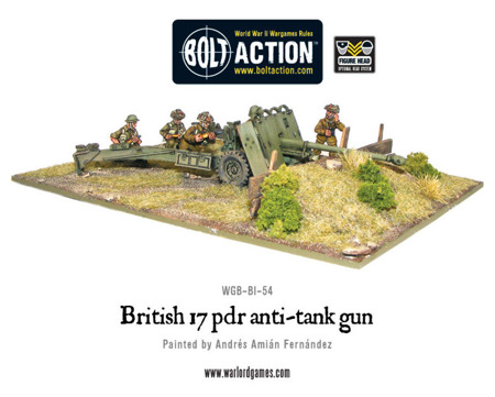 Bolt Action - British Army 17 pdr Anti-tank Gun