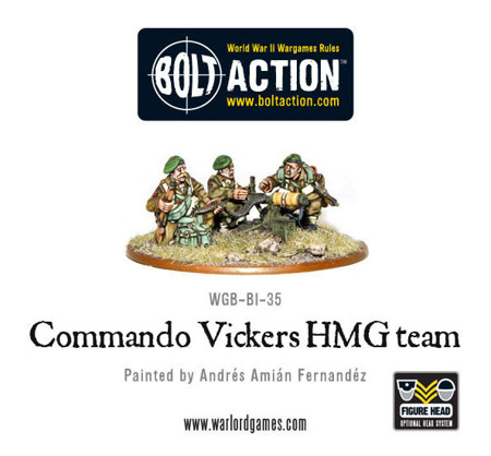 Bolt Action - Commando Vickers MMG team