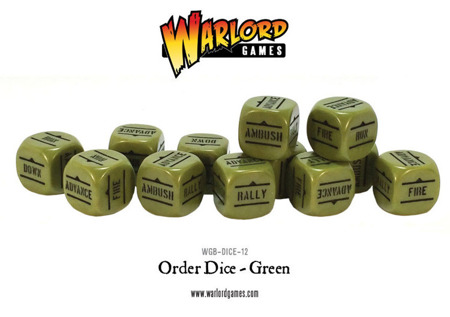 Bolt Action - Order Dice - Green (12)