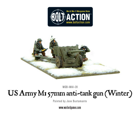 Bolt Action - US Army 57mm anti-tank gun M1 (Winter)