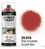 Vallejo Hobby Paint Scarlet Red Spray 400ml.